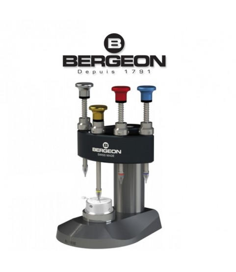 Bergeon 8935 watch hand fitting tool with 4 runners