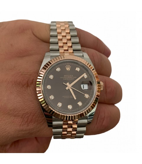 Rolex Datejust 126331 18k rose gold watch with chocolate diamond dial 41mm 2020