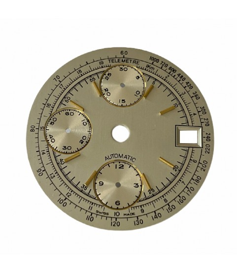 Unbranded dial for vintage chronograph watch 29.5mm