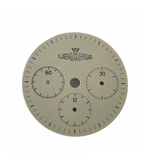 Vintage Lemania white dial for chronograph watch 26.55mm