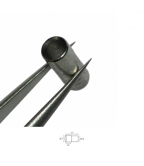 Steel tube for watch case 1.30mm
