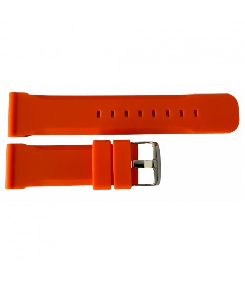 Buzzufy silicone orange chrono watch strap 18mm