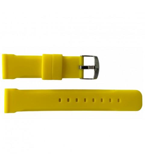 Buzzufy silicone yellow chrono watch strap 22mm