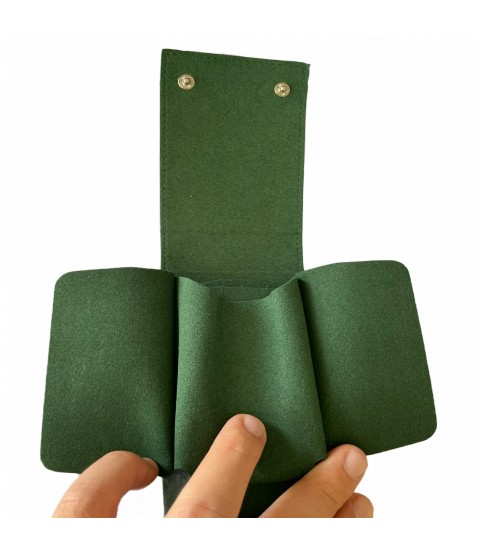 Green watch leather Rolex travel pouch