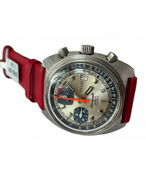 Vintage SELUX chronograph men's watch 40.5mm Valjoux 7765