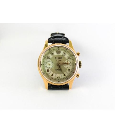 Vintage Airain Chronograph Men's Watch Valjoux 23