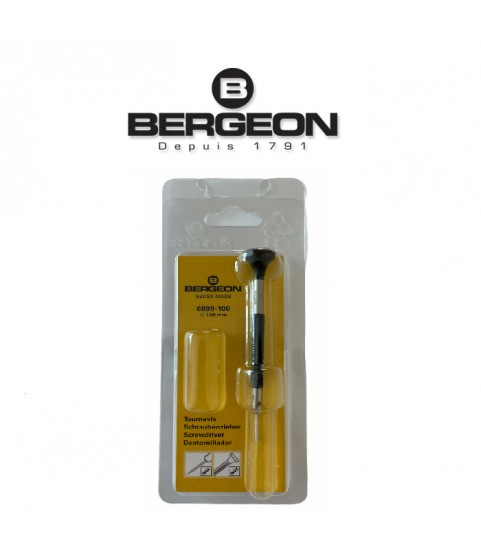 Bergeon 6899-100 ergonomic screwdriver 1.00mm black