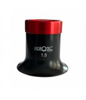 Horotec MSA 00.032-1.5 eyeglass loupe black plastic with aluminium screwed ring x6.5