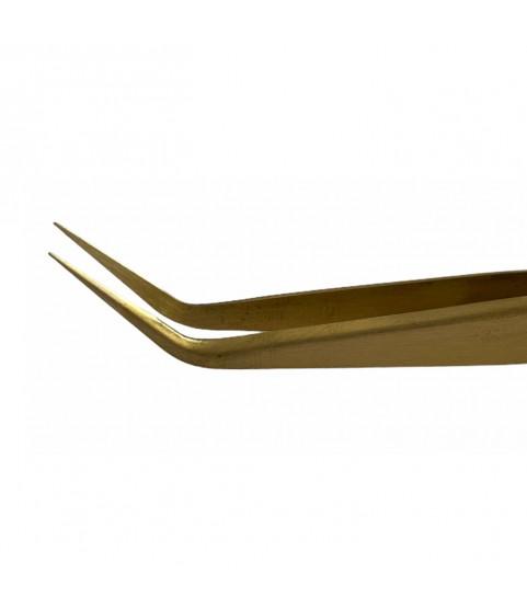 Horotec MSA12.303-S5C brass tweezers with fine tips