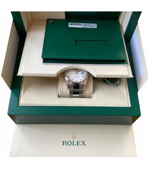 New Rolex Datejust 126200 white roman dial full set 2021