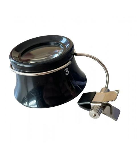 Boley watchmaker eyeglass loupe with clamp x5