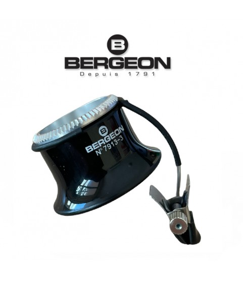 Bergeon 7913 eyeglass watchmaker loupe with clip 3.3x