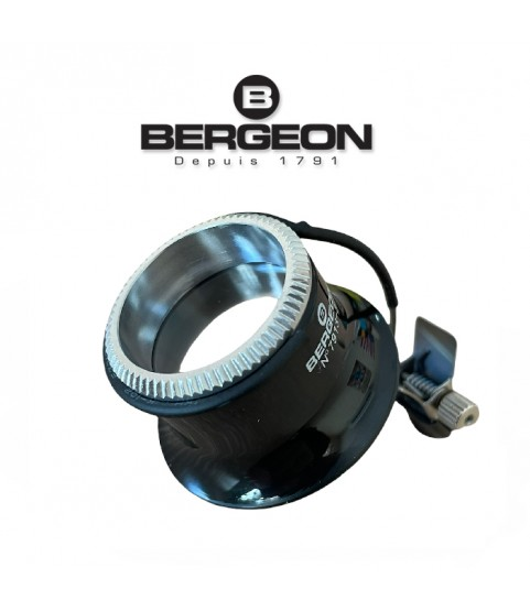 Bergeon 7913 eyeglass watchmaker loupe with clip 5x