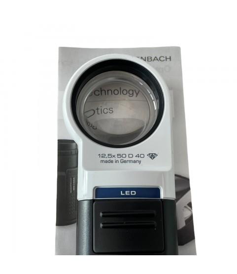 Eschenbach handheld magnifier loupe incl. LED lighting x12.5