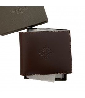 New Patek Philippe brown leather wallet