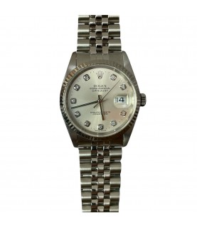 Rolex Datejust 16234 factory diamond dial white gold watch 36mm