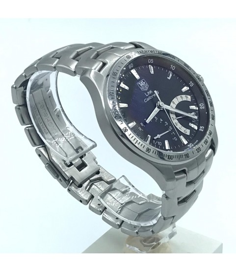 TAG Heuer Calibre S CJF7110 Link Quartz Watch Black Dial 42mm