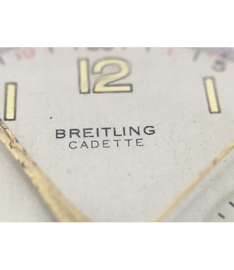 Vintage Breitling Cadette 18K Gold Chronograph Watch with Venus 188