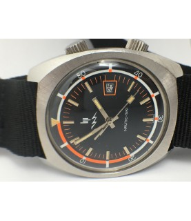 Vintage LIP Nautic Ski Compressor Men's Watch R184 37 mm 1970s