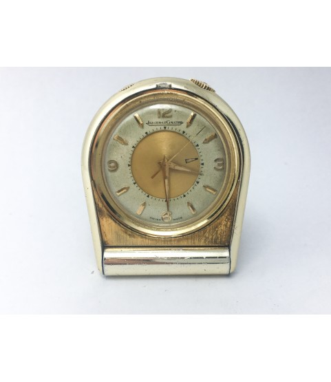 Vintage Jaeger LeCoultre Memovox Alarm Table Travel Pocket Watch