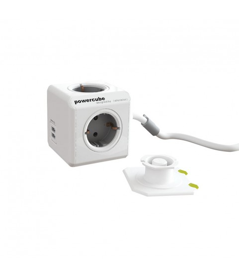 PowerCube Extended 1.50 m USB 2 Ports multiconductor plug with 6 connections 220-240 V