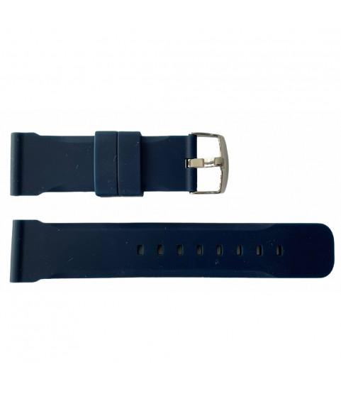 Buzzufy silicone dark blue chrono watch strap 18mm