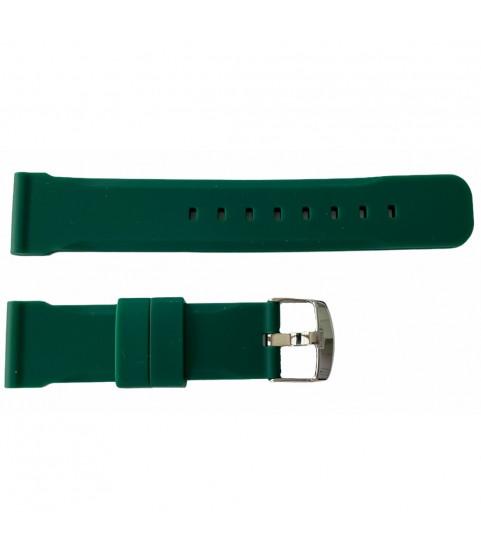 Buzzufy silicone green chrono watch strap 20mm
