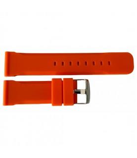 Buzzufy silicone orange chrono watch strap 22mm
