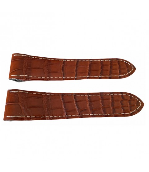 Cartier brown leather strap KD1IJY92 24.5mm