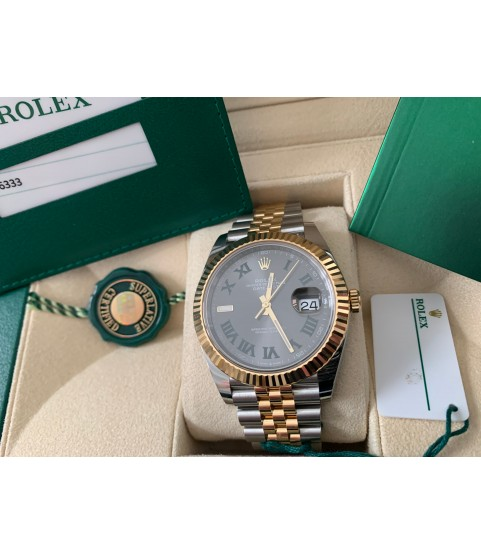 New Rolex Datejust Wimbledon 126333 yellow gold full set 2019