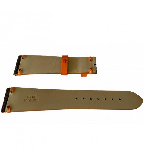 Louis Vuitton monogram leather strap for watches brown & orange 20mm