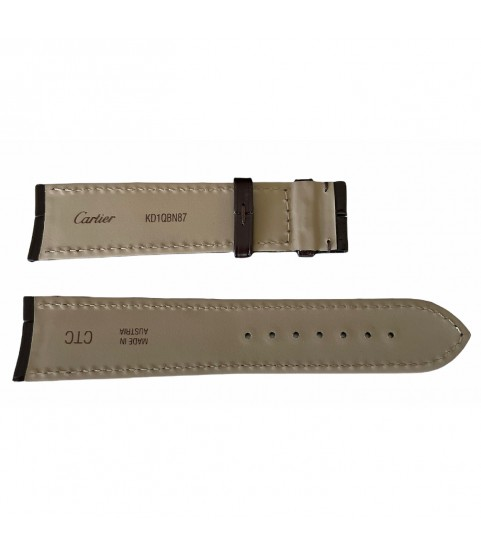 New Cartier watch brown leather strap KD1QBN87 20mm