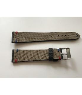 New Louis Vuitton canvas leather strap 20/16 mm