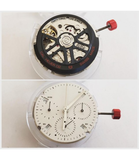New Tag Heuer chronograph movement caliber 02