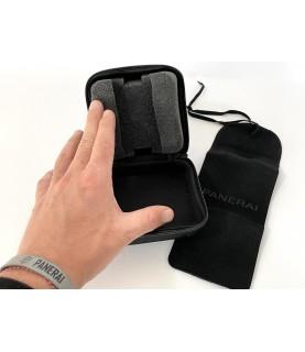 Panerai nylon watch travel case with velvet pouch
