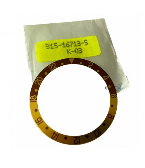 Rolex GMT Master II 16713 brown bezel insert