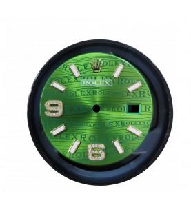 Rolex green factory diamonds dial 116233, 116238