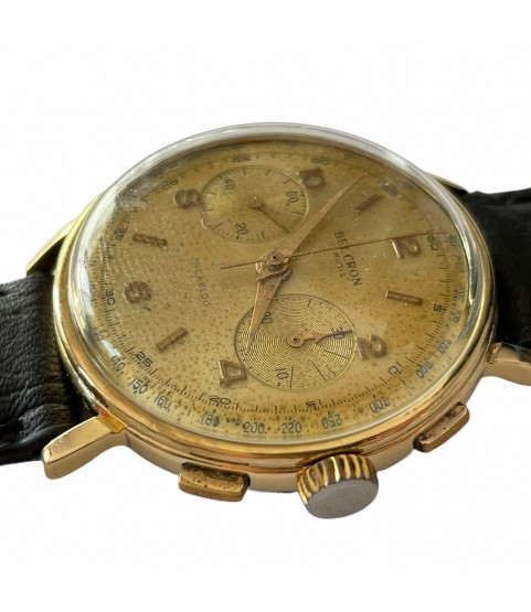 Vintage Belron chronograph men's watch with Landeron 248 1960s